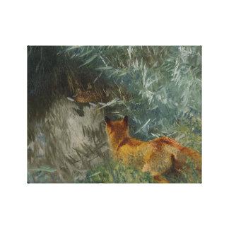 Bruno Liljefors - Stalking Fox Canvas Print