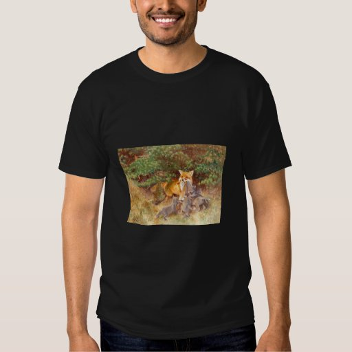 Bruno Liljefors - Vixen w/ Cubs & byte 1913 Fox Tee Shirt