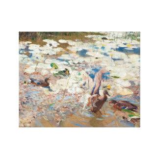 Bruno Liljefors - Wild Ducks Canvas Print