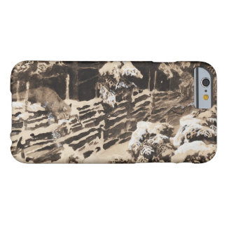Bruno Liljefors - Winter Scene with Hunter and Fox Barely There iPhone 6 Case