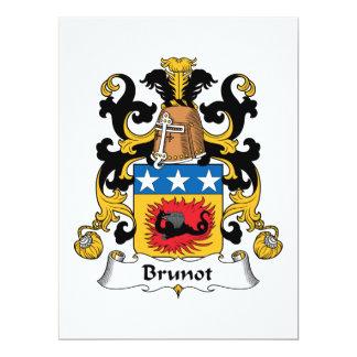 Brunot Family Crest Card
