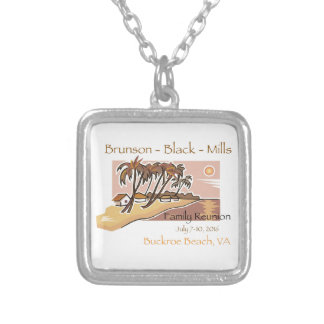 Brunson Black Mills Family Reunion Silver Plated Necklace