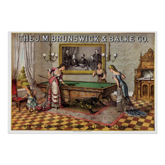 Brunswick & Balke Billiards Poster