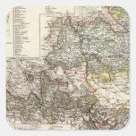 Brunswick y Wolfenbutte Alemania Calcomania Cuadradas Personalizadas