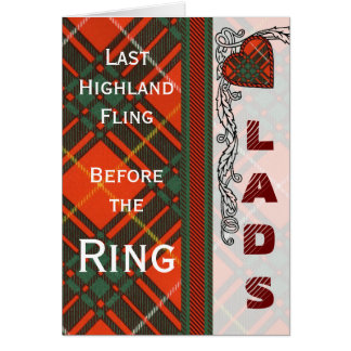 Brus clan Plaid Scottish kilt tartan Card