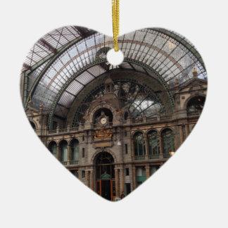 Bruselas Adorno Navideño De Cerámica En Forma De Corazón