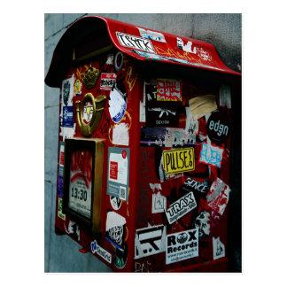 Bruselas: ¿Caja o buzón del pegatina? Tarjeta Postal