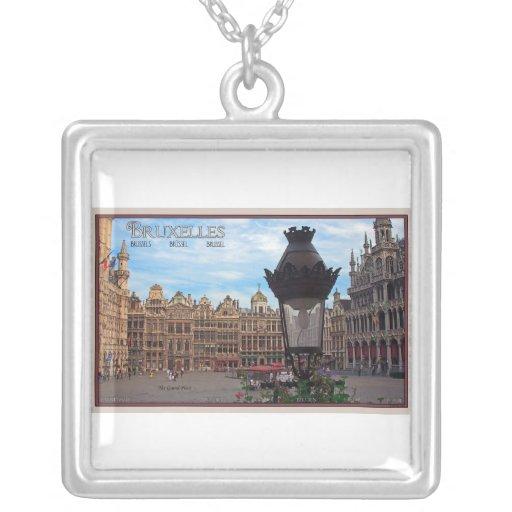 Bruselas - el lugar magnífico colgante cuadrado