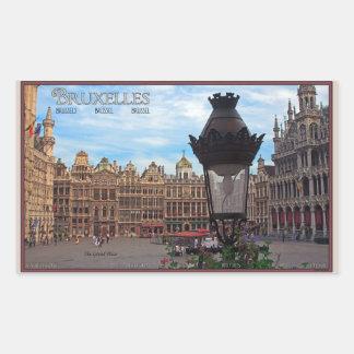 Bruselas - el lugar magnífico pegatina rectangular