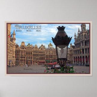 Bruselas - el lugar magnífico póster