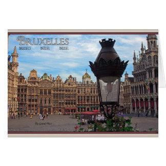 Bruselas - el lugar magnífico tarjeta de felicitación