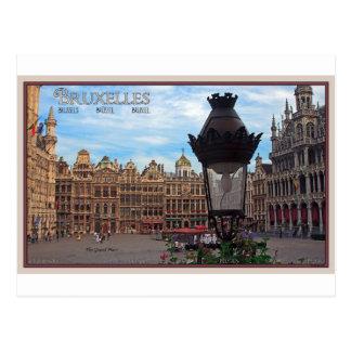 Bruselas - el lugar magnífico tarjetas postales