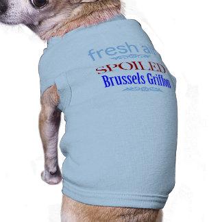 Bruselas estropeada Griffon Playera Sin Mangas Para Perro