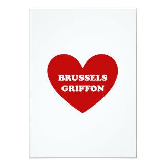 """Bruselas Griffon Invitación 5"""" X 7"""""""