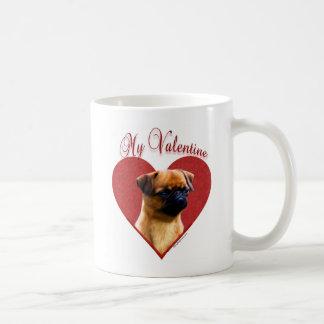 Bruselas Griffon mi tarjeta del día de San Valentí Taza De Café