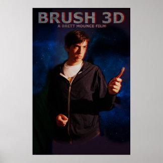 Brush 3D Poster