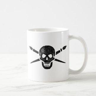 Brush and Bones Classic White Coffee Mug