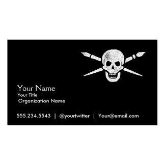 Brush and Bones Freelance Designer or Artist Cards Business Card