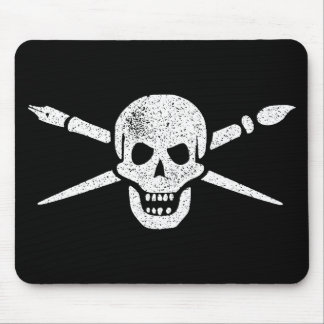 Brush and Bones Mouse Pad