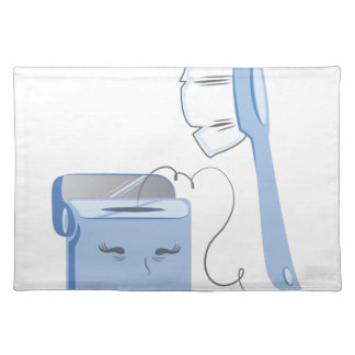 Brush and Floss Cloth Placemat