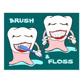 Brush and Floss Postcard