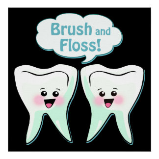 Brush and Floss Poster