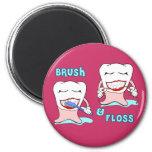 Brush and Floss Refrigerator Magnet