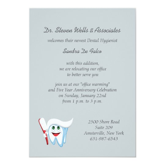 Brush and tooth dental announcementinvitation card zazzle brush and tooth dental announcementinvitation card stopboris Gallery
