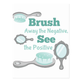 Brush Away Negative Postcard