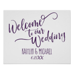Welcome To Our Wedding Posters & Photo Prints   Zazzle