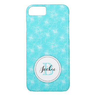 Brush cherry lilly-pilly floral aqua iphone case