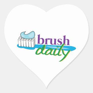 Brush Daily Heart Sticker