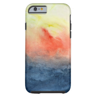 Brush Fire Watercolor Tough iPhone 6 Case