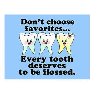 Brush & Floss Dental Humor Postcard