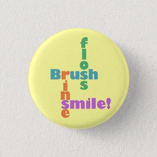 Brush Floss Rinse Smile Button