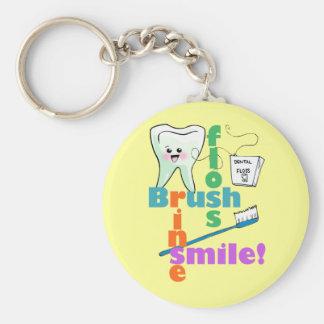 Brush Floss Rinse SMILE Keychain