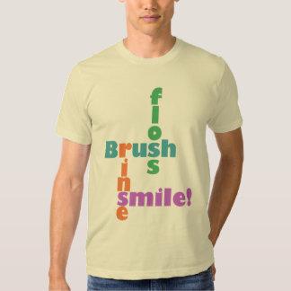 Brush Floss Rinse Smile Tee Shirt