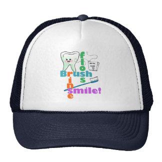 Brush Floss Rinse SMILE Trucker Hat