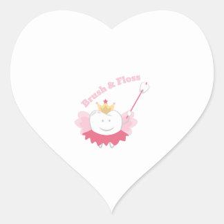 Brush & Floss Heart Sticker