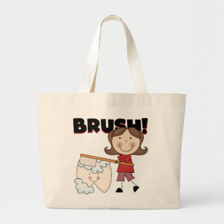 BRUSH - Girl With Tooth Tshirts and Gifts Canvas Bags
