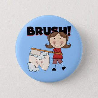 BRUSH - Girl With Tooth Tshirts and Gifts Button