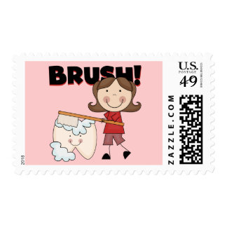 BRUSH - Girl With Tooth Tshirts and Gifts Postage