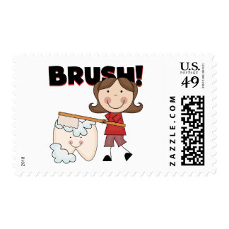 BRUSH - Girl With Tooth Tshirts and Gifts Stamp
