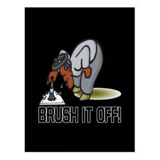 Brush It Off Postcard