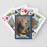 "Brush ~ King of Wizards Bicycle Playing Cards<br><div class=""desc"">Vintage Magic Advertising poster for Edwin Brush &quot;King of Wizards&quot; from 1915.</div>"