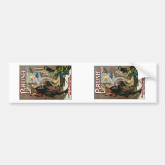 Brush ~ King of Wizards Vintage Magic Act Bumper Sticker