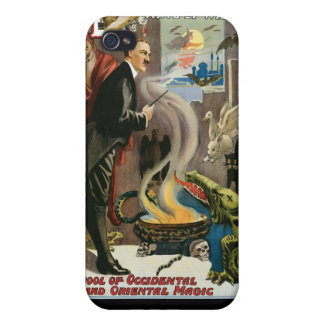 Brush ~ King of Wizards Vintage Magic Act iPhone 4 Case