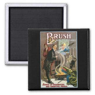 Brush ~ King of Wizards Vintage Magic Act Fridge Magnets