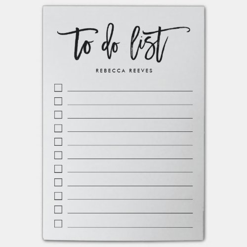 Brush Lettered Personalized To Do List Post-it Notes