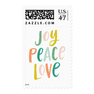 Brush Lettering Christmas Postage Stamp